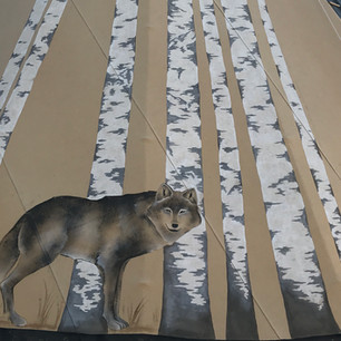 Dances with Wolves Tipi - Inspired by Bev Doolittle painting
