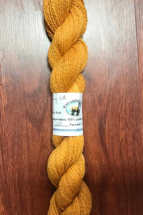 Alpaca Yarn:  Fingering Weight (Pumpkin or Lime Green)