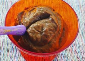 Mousse de abacate com cacau
