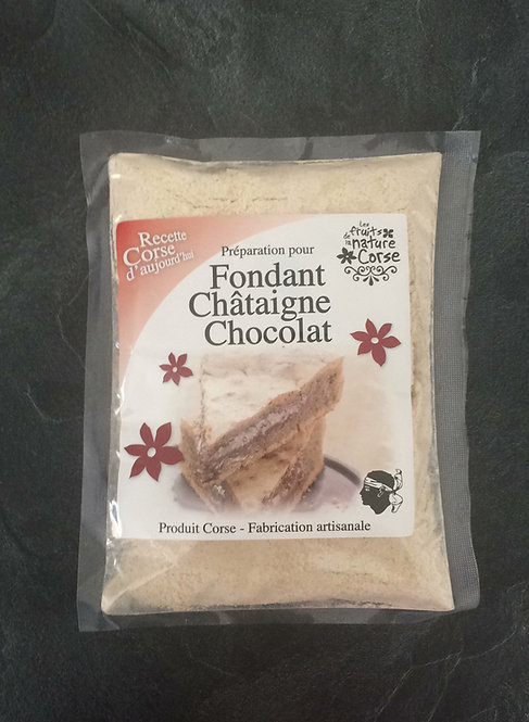 Fondant châtaigne chocolat
