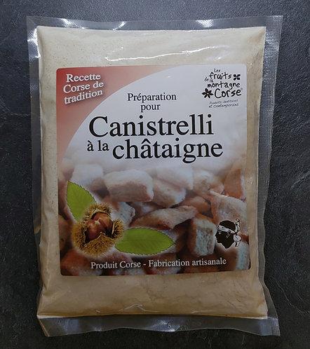 Préparation Canistrelli à la châtaigne