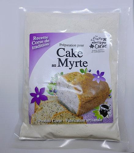 Préparation cake myrte