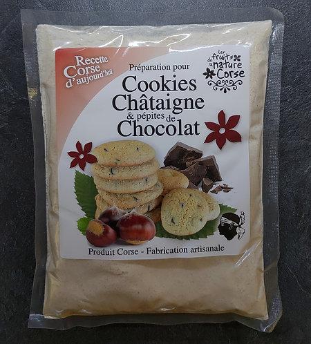 Préparation Cookies châtaigne/choco