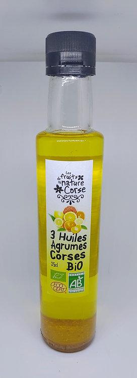 3 Huiles agrumes corses BIO*