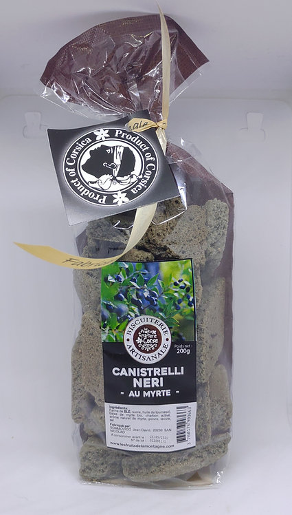 """Canistrelli neri"" au myrte"