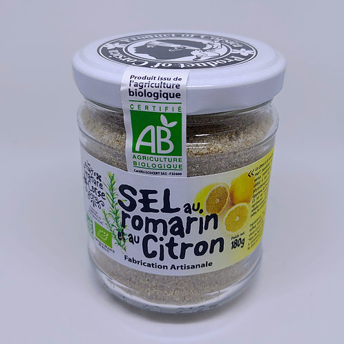 Sel romarin citron BIO* Pot 180g