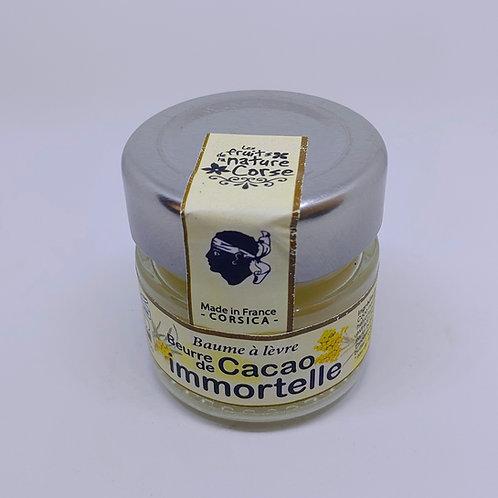 Baume à lèvres cacao/immortelle