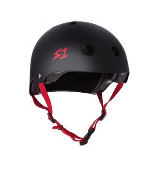 S1 Lifer Black Matte red straps M (54.6 cm)