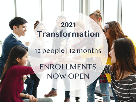 Welcome to 2021 & THE Transformation of the Year