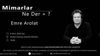 Namık Kemal Üniversitesi İlk Buluşmasında Emre Arolat'ı Konuşacak