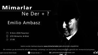 Gebze Teknik Üniversitesi İlk Buluşmasında Emilio Ambasz'ı Konuşacak