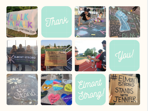 Thank you for a supportive ELMONT STRONG weekend!