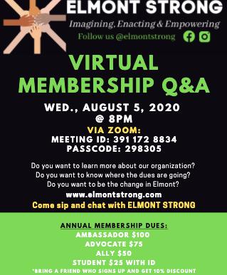 Virtual Membership Q&A--Wed, Aug 5th