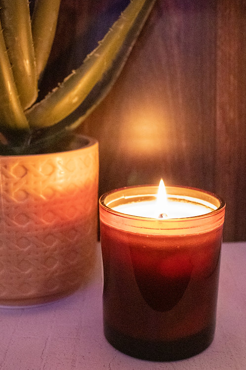 Cambridge Amber/Black/White Tumbler - Hand Poured Soy Candle