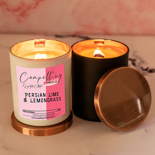 Persian Lime & Lemongrass - Signature Collection Coco Soy Candle