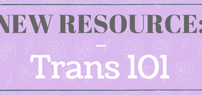 New Resource: Trans 101