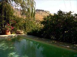 Pool castle view