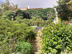 Garden view up to the house