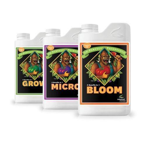 Advanced Nutrients pH Perfect Grow, Bloom, Micro Trio 1L