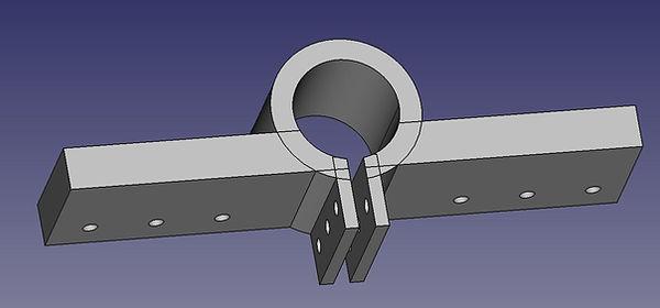 Magnetic loop antenna  2   top main loop mast holder.JPG