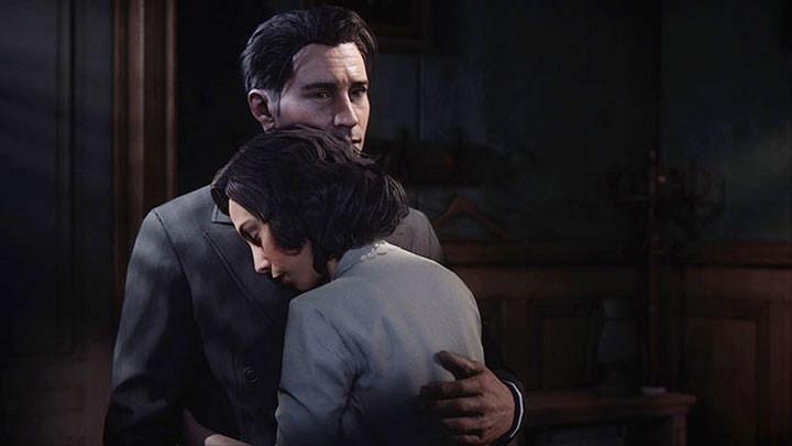 Tommy hugging Sarah