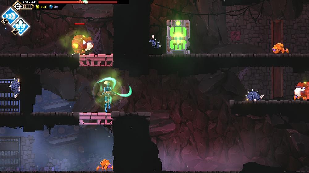 Arbiter channeling Restoration while poisoning enemies around her.