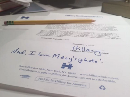 The Personal Letter I Received From Hillary Clinton Five Days Before The Election