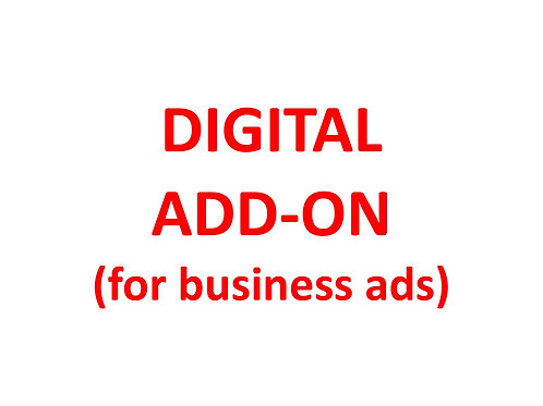 Digital Add-on for BUSINESS advertisers