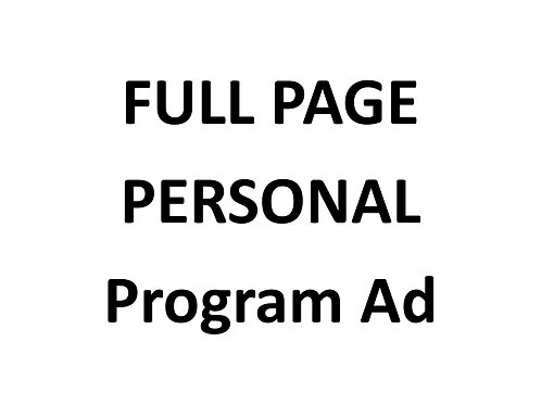 Full PERSONAL program ad