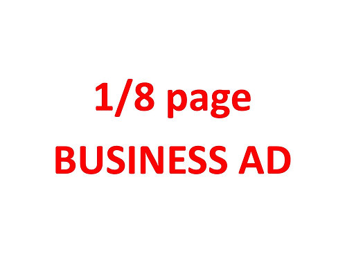 1/8 page BUSINESS ad