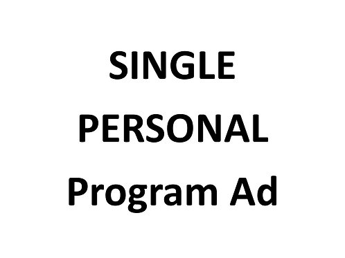 Single PERSONAL program ad