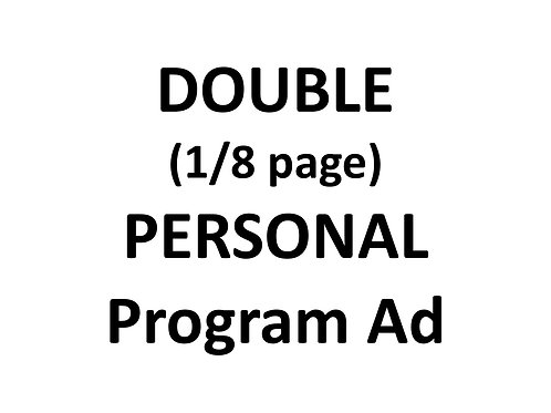 Double PERSONAL program ad