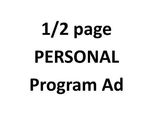 1/2 page PERSONAL program ad