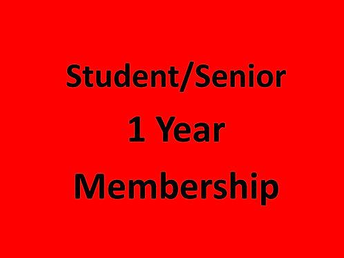 Annual Student or Senior Membership