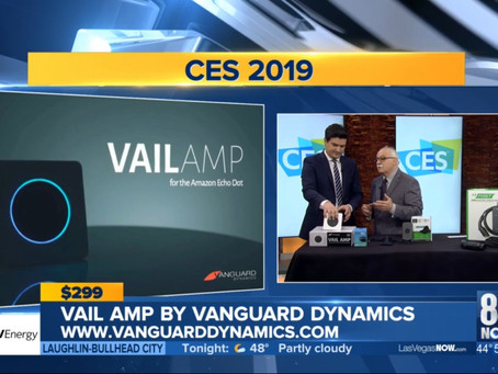 VAIL Amp featured on CBS-TV at CES 2019, Las Vegas