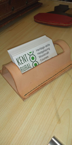 Hand sewn business card holder