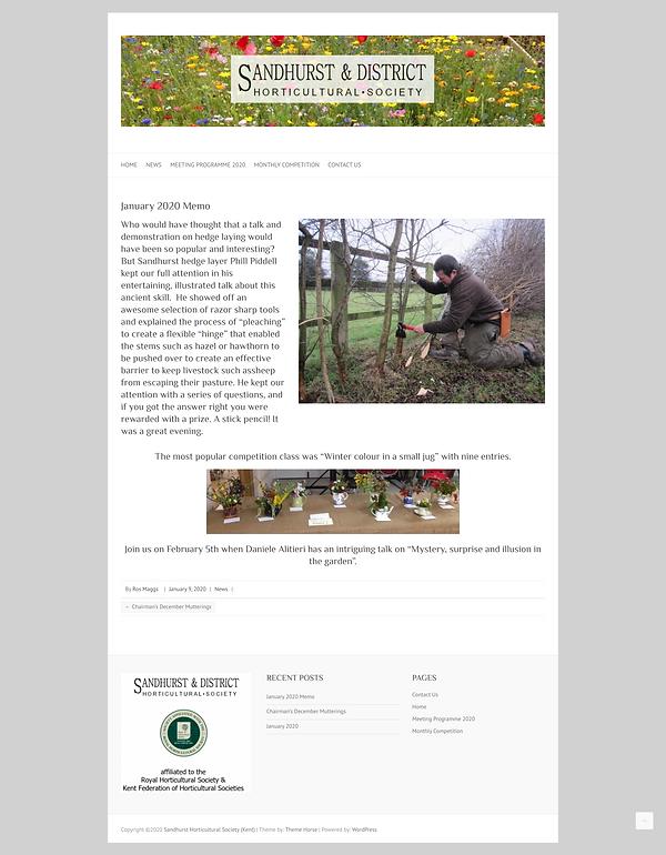 Sandhurst Horticultural Society  Kent .p