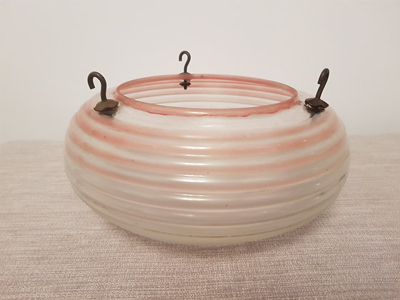 Red Tinted Glass Ceiling Light Shade