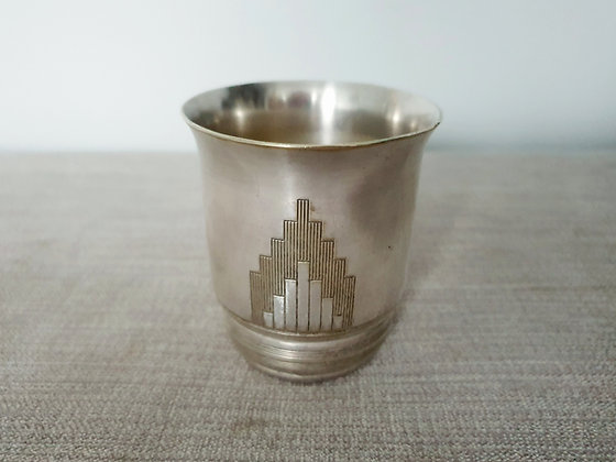 Silver Plated Skyscraper Pot
