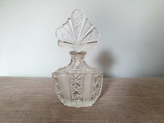Large Clear Glass Perfume Bottle