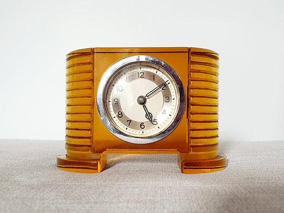Amber Lucite Clock