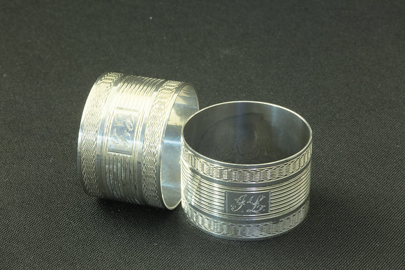 Sterling Silver Pair of Napkin Rings