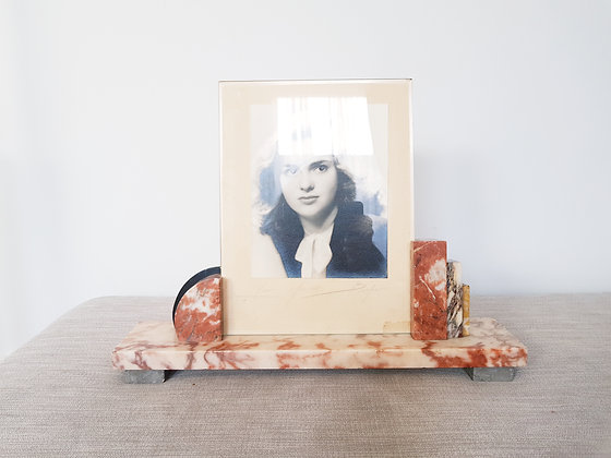 Large Marble Footed Photo Frame