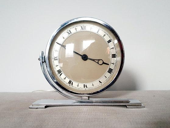 Chrome Circular Electric Clock