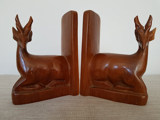 Teak Gazelle Bookends