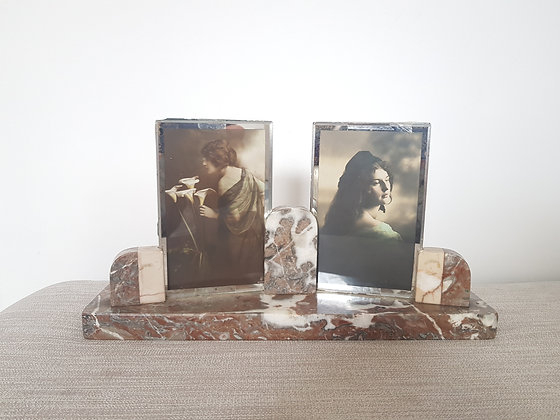 Marble Double Photo Frame