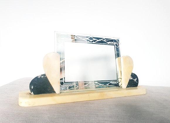 Cream & Black Marble Photo Frame