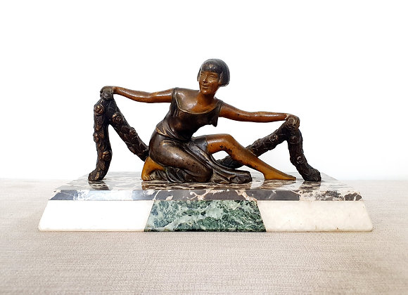 Bronze Lady on Marble