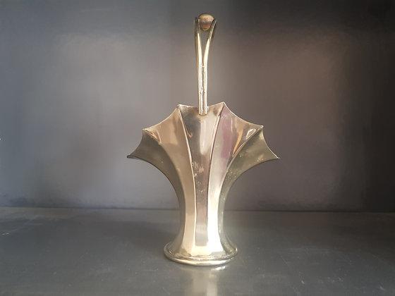 Silver Plated Fan Vase