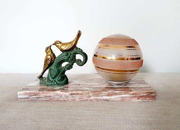 Birds Marble Lamp